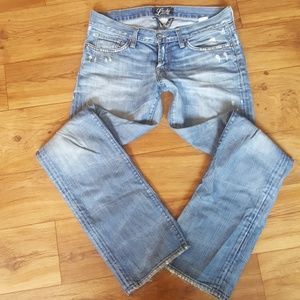 Lucky Brand Light Wash Distessed Jeans 27